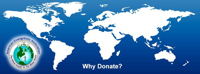 AEA Ministries. Why Donate?